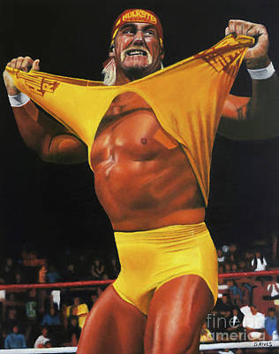 Painting - Hulk Hogan Oil On Canvas by David Rives