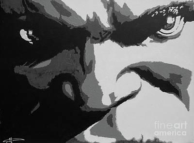 Hulk - Incredibly Close Bw Art Print
