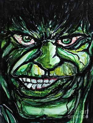 Hulk Rage Art Print