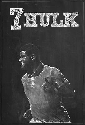Soccer Digital Art - Hulk by Semih Yurdabak