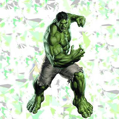 Mixed Media - Hulk Splash Super Hero Series by Movie Poster Prints
