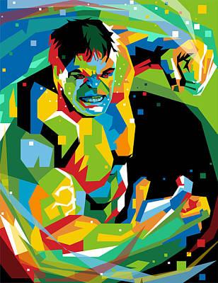 Hulk The Hero Art Print