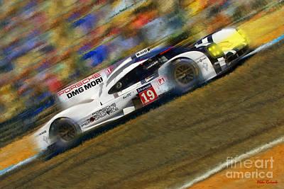 Photograph - Hulkenberg Bamber Tandy 2015 Porsche 919 Hybrid  Le Mans Winner by Blake Richards