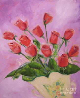 Painting - Hull Roses by Karen Francis