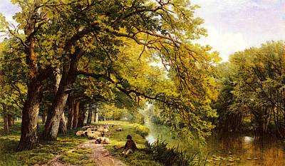 Ockham Digital Art - Hulme Frederick William At Ockham Surrey In Summer by Frederick William Hulme
