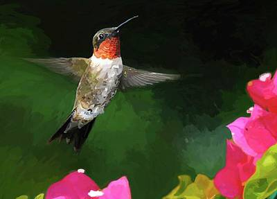 Hummer Painting - Hum A Song by Patti Siehien