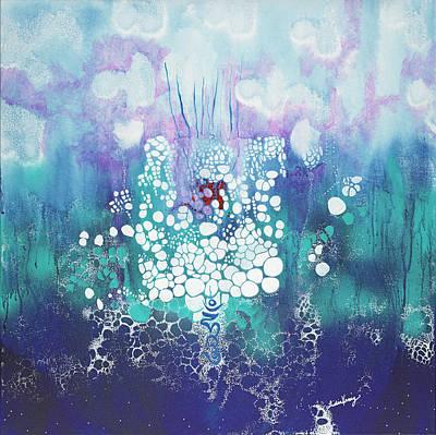 Heart Sutra Wall Art - Mixed Media - HUM by Lidia Kenig-Scher