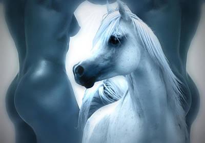 Horse Photograph - Human And Arabian Horse Beauty by ELA-EquusArt