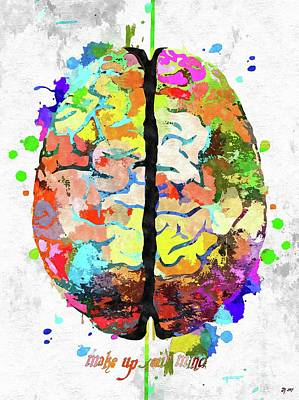 Mixed Media - Human Brain   by Daniel Janda