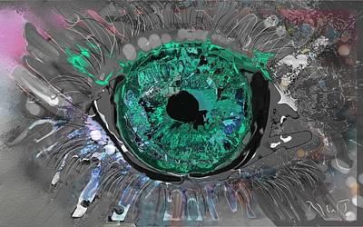 Abstract Sights Mixed Media - Human Eye by Ricardo Mester