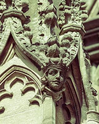 Photograph - Human Face B On St Mary Redcliffe Church Bristol by Jacek Wojnarowski