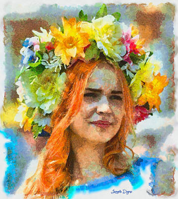Costume Painting - Human Flower - Da by Leonardo Digenio