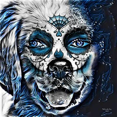 Digital Art - Human Puppy Skull by Artful Oasis