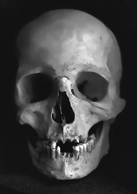 Human Skull Art Print