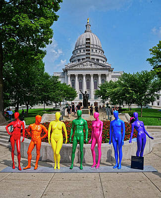 Photograph - Human Spectrum - Madison - Wisconsin by Steven Ralser