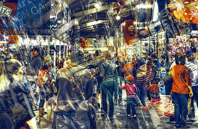 Print featuring the photograph Human Traffic by Wayne Sherriff