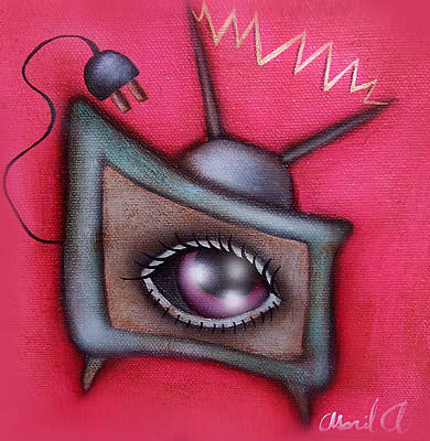 Human Tv Art Print by  Abril Andrade Griffith