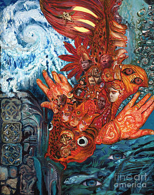 Painting - Humanity Fish by Emily McLaughlin