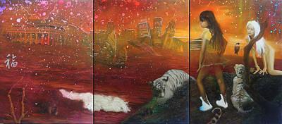 Painting - Humanity - Innalzamento Della Croce by Michael Andrew Law