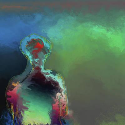 Digital Art - Humanoid In The Fifth Dimension by Eduardo Tavares