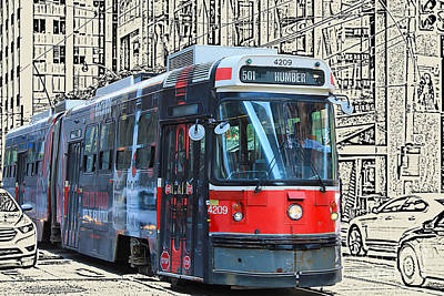 Photograph - Humber Bound Streetcar On Queen Street by Nina Silver
