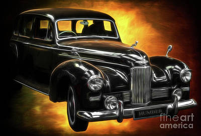 Photograph - Humber Pullman Limousine  by Adrian Evans