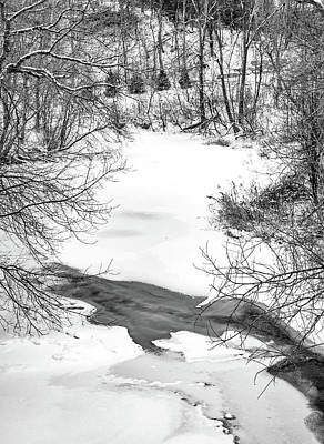 Photograph - Humber River - Winter Moods 2 Bw by Steve Harrington