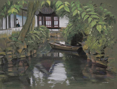 Water Painting - Humble Administrator's Garden by Christopher Reid