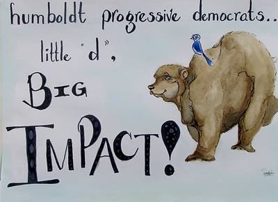 Drawing - Humboldt Progressive Democrats by Patricia Kanzler