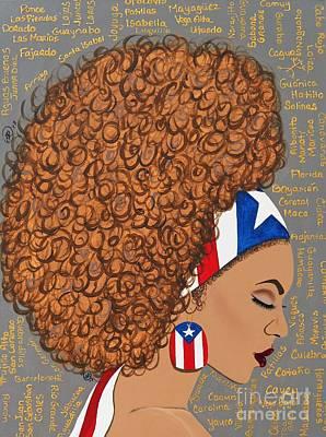 Rico Wall Art - Painting - Humilde Boricua by Ida Yvette Robles