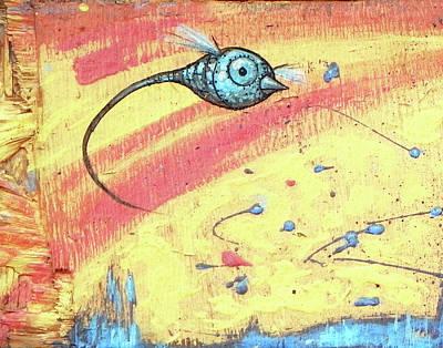 Upscale Mixed Media - Humingbirdlyson Express by Sam Arneson