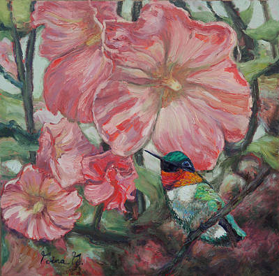 Painting - Hummer In Holly Land by Gina Grundemann