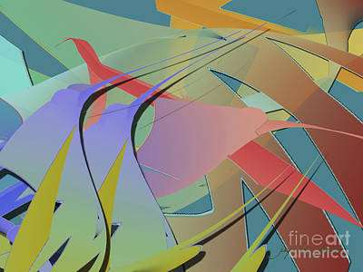 Digital Art - Hummingbird Convention by Jacqueline Shuler