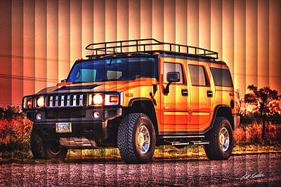 Photograph - Hummer Sunrise - The Slat Collection by Bill Kesler