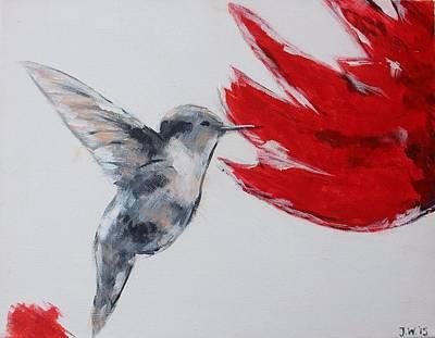 Colibri Art Painting - Hummingbird by Jennifer Whitworth