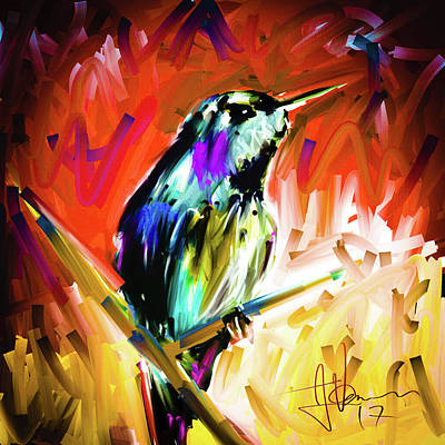 Digital Art - Humming Bird by Jim Vance