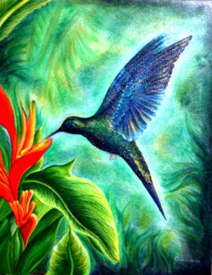 Painting - Humming Bird  by Owen Lafon