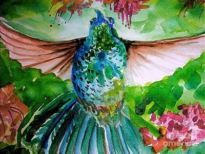 Open Impressionism California Desert Royalty Free Images - Humming bird Royalty-Free Image by Patricia Ducher