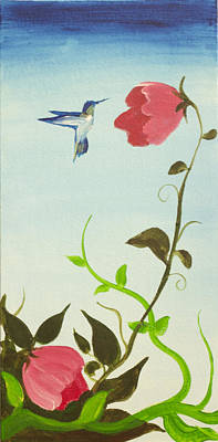 Painting - Humming Bird by Richard Fritz