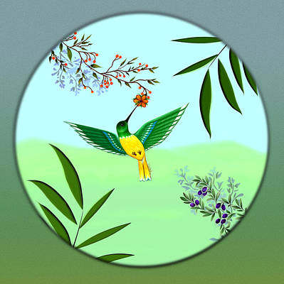 Digital Art - Humming Bird - Wall Art by Vincent Autenrieb
