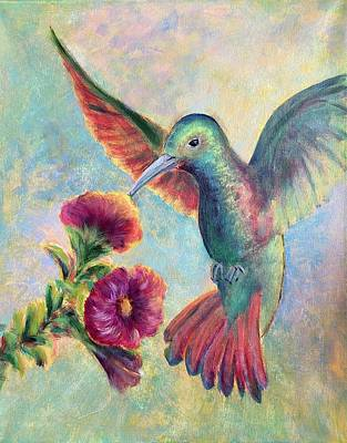 Painting - Humming Jewel by Lisa DuBois