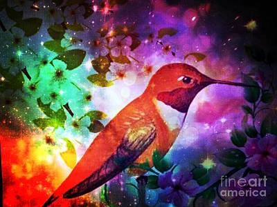 Digital Art - Humming The Night Away by Maria Urso