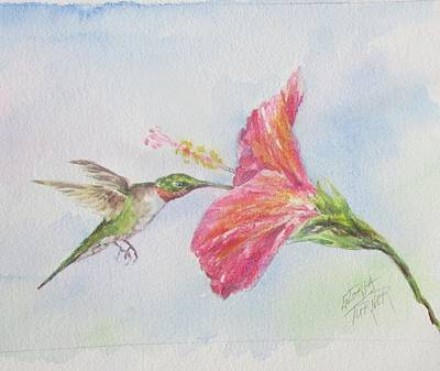 Painting - Hummingbird 1 by Gloria Turner
