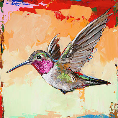 Hummingbird Wall Art - Painting - Hummingbird #13 by David Palmer