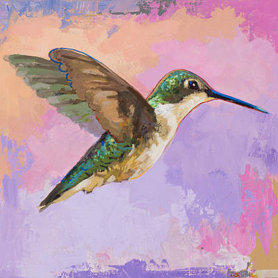 Bird Painting - Hummingbird #2 by David Palmer