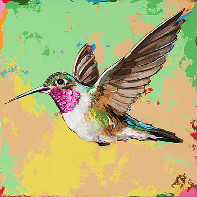 Hummingbird Wall Art - Painting - Hummingbird #21 by David Palmer