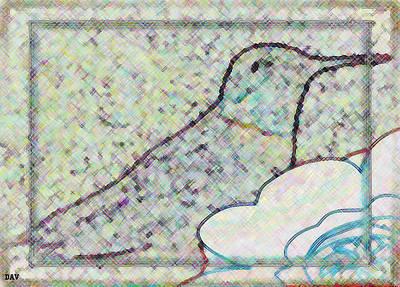 Flock Of Bird Mixed Media - Hummingbird Accent  by Debra     Vatalaro