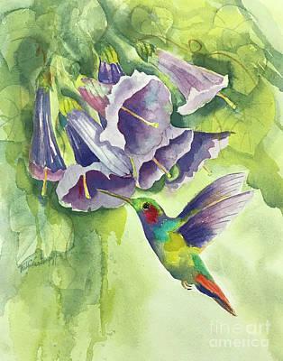 Nirvana - Hummingbird and Trumpets by Hilda Vandergriff