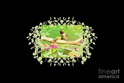 Photograph - Hummingbird Attitude T - Shirt Designe by Debbie Portwood