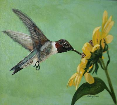 Painting - Hummingbird by Betty-Anne McDonald